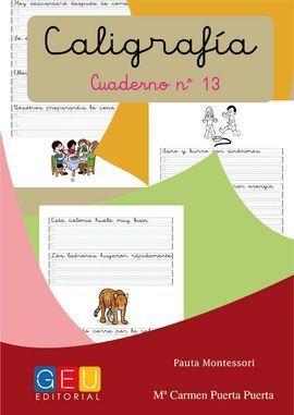 13-CALIGRAFIA Nº13 PAUTA MONTESSORI