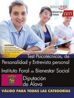 INSTITUTO FORAL DE BIENESTAR SOCIAL. DIPUTACIÓN DE ÁLAVA. TEST PSICOTÉCNICOS, DE