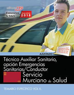 TÉCNICO AUXILIAR SANITARIO, OPCIÓN EMERGENCIAS SANITARIAS/CONDUCTOR. SERVICIO MU
