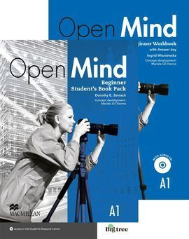 OPEN MIND BEGINNER A1  STUDENT & WORKBOOK + KEY PACK
