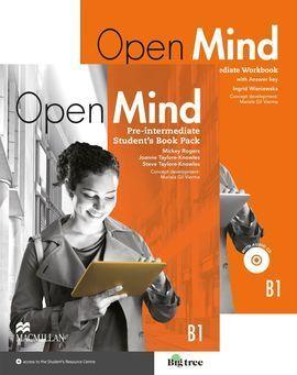 OPEN MIND PRE-INTERMEDIATE B1 STS & WB (+KEY) PACK