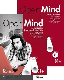 OPEN MIND B1+ INTERMEDIATE STUDENT´S BOOK & WORKBOOK (+KEY) PK