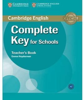 INT. COMPLETE KEY FOR SCHOOLS TEACHER'S BOOK