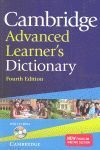 CAMBRIDGE ADVANCED LEARNER'S DICTIONARY WITH CD-ROM  PAPERBACK