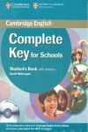 COMPLETE KEY FOR SCHOOLS STUDENT'S PACK WITH ANSWERS (STUDENT'S BOOK WITH CD-ROM