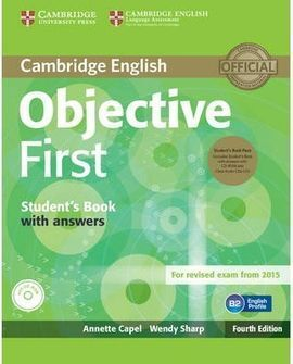 OBJECTIVE FIRST.STUDENT'S BOOK PACK 4º EDICION (STUDENT'S BOOK WITH ANSWERS WITH CD-ROM AND