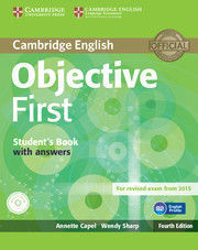 OBJECTIVE FIRST STUDENT'S PACK (STUDENT'S BOOK WITHOUT ANSWERS WITH CD-ROM, WORK