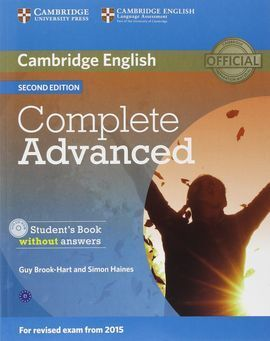 COMPLETE ADVANCED (2ND ED.) STUDENT'S BOOK WITHOUT ANSWERS WITH CD-ROM