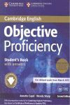 OBJECTIVE PROFICIENCY STUDENT'S BOOK PACK (STUDENT'S BOOK WITH ANSWERS WITH DOWNLOADABLE SOFTWARE AND CLASS AUDIO CDS (2)) 2ND EDITION