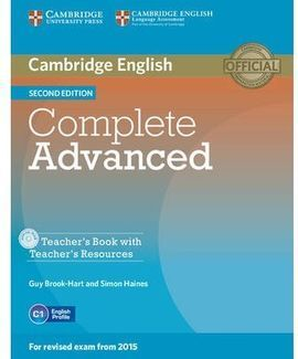 COMPLETE ADVANCED TEACHER'S BOOK WITH TEACHER'S RESOURCES CD-ROM 2ND EDITION