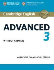 CAMBRIDGE ENGLISH ADVANCED 3. STUDENT'S BOOK WITHOUT ANSWERS