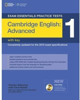 EXAM ESSENTIALS: CAMBRIDGE ADVANCED PRACTICE TESTS 1 W/KEY + DVD-ROM