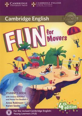FUN FOR MOVERS STUDENT´S BOOK WITH HOME FUN ONLINE ACTIVITIVITIES.