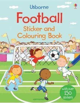FOOTBALL STICKER AND COLOURING BOOK