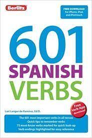 601 SPANISH VERBS:BERLITZ LANGUAGE