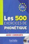 PHONETIQUE EXERCICIES  500 + CORRIGES A1/A2