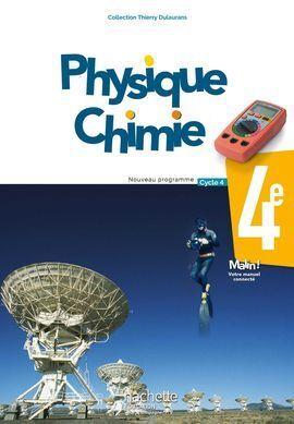 PHYSIQUE CHIMIE 4EME NOUVEAU PROGRAMME CYCLE 4