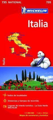 ITALIA MAPA NACIONAL 735 2015