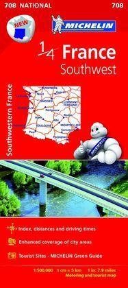 MAPA FRANCIA (708)  SOUTHWEST  -2015-