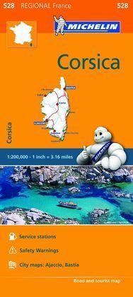 CORSICA 528 FRANCIA MAPA REGIONAL 2016
