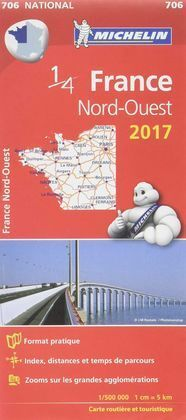 CARTE N°706 - FRANCE NORD-OUEST - EDITION 2017