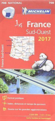 MICHELIN - CARTE N°708 - FRANCE