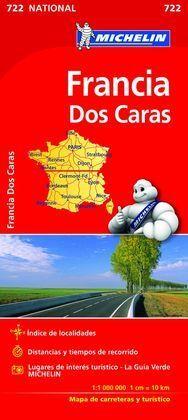 FRANCIA MAPA NACIONAL DOBLE CARA 722 2016