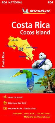 MAPA NATIONAL COSTA RICA 2018