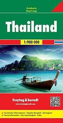 TAILANDIA, MAPA DE CARRETERAS ESCALA: 1:900.000