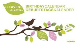 BIRTHDAY CALENDAR LEAVES WITH STICKERS 42 X 24 CM