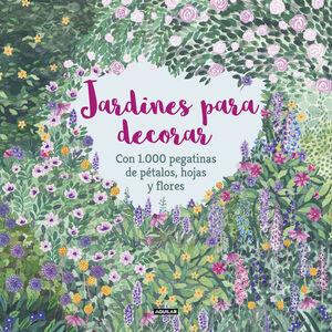 JARDINES PARA DECORAR CON 1.000 PEGATINAS DE PÉTALOS, HOJAS Y FLORES