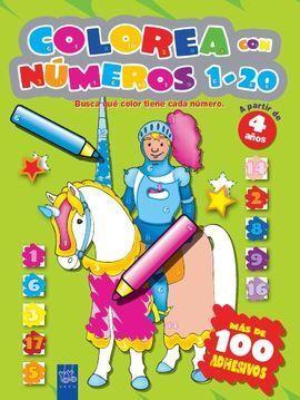 COLOREA CON NÚMEROS 1-10 AMARILLO