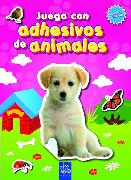 JUEGA CON ADHESIVOS DE ANIMALES. ROSA