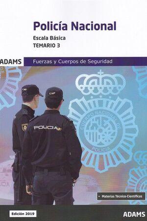TEMARIO 3 POLICÍA NACIONAL. ESCALA BÁSICA