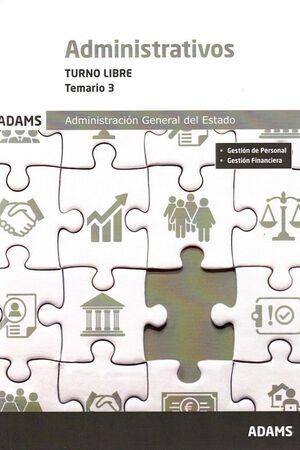 ADMINISTRATIVOS ESTADO TURNO LIBRE VOLUMEN 3