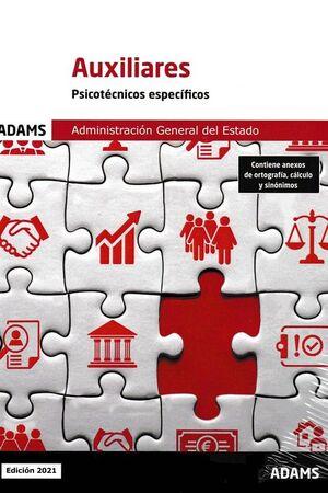 AUXILIARES - PSICOTECNICOS ESPECIFICOS. ADMINISTRACION GENERAL DEL ESTADO