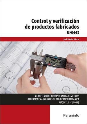 CONTROL Y VERIFICACIÓN DE PRODUCTOS FABRICADOS