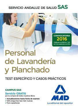 PERSONAL DE LAVANDERÍA Y PLANCHADO DEL SERVICIO ANDALUZ DE SALUD. TEST ESPECÍFIC