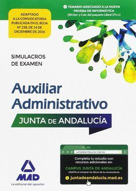 PAQUETE AHORRO AUXILIAR ADMINISTRATIVO JUNTA DE ANDALUCÍA. AHORRA 85 € (INCLUYE