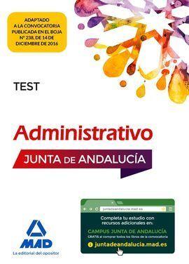 ADMINISTRATIVO DE LA JUNTA DE ANDALUCÍA TURNO LIBRE. TEST