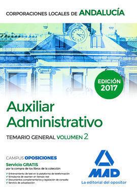AUXILIAR ADMINISTRATIVO DE CORPORACIONES LOCALES DE ANDALUCÍA. TEMARIO GENERAL V