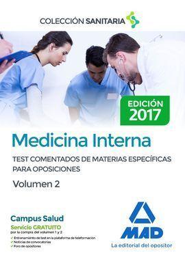 MEDICINA INTERNA VOL 2 TESTS COMENTADOS 2017