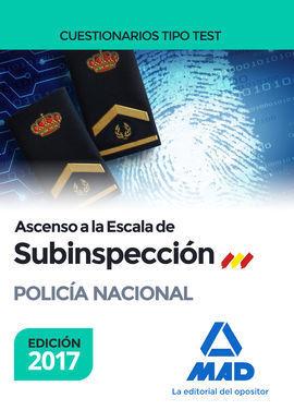 ASCENSO A LA ESCALA DE SUBINSPECCIÓN DE LA POLICÍA CUESTIONARIOS TIPO TEST