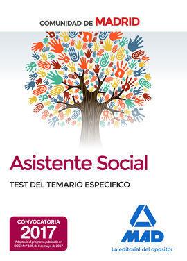 ASISTENTES SOCIALES DE LA COMUNIDAD DE MADRID TEST DEL TEMARIO ESPECIFICO