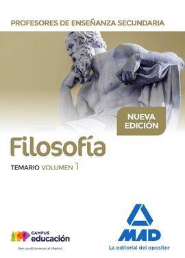 PROFESORES DE ENSEÑANZA SECUNDARIA FILOSOFÍA TEMARIO VOLUMEN 1
