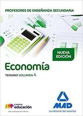 PROFESORES DE ENSEÑANZA SECUNDARIA ECONOMÍA TEMARIO VOLUMEN 4