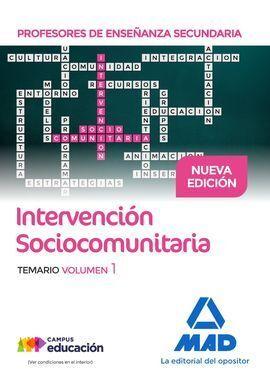 PROFESORES DE ENSEÑANZA SECUNDARIA INTERVENCIÓN SOCIOCOMUNITARIA TEMARIO VOLUMEN