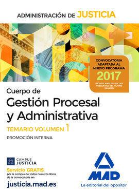 TEMARIO CUERPO DE GESTIÓN PROCESAL Y ADMINISTRATIVA DE LA ADMINISTRACIÓN DE JUST