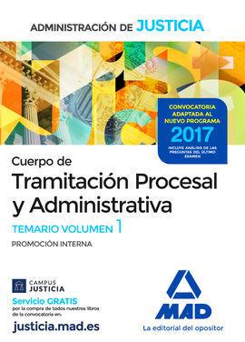 TEMARIO CUERPO DE TRAMITACIÓN PROCESAL Y ADMINISTRATIVA (PROMOCIÓN INTERNA) DE L