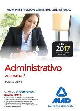 ADMINISTRATIVO VOLUMEN 3 ADMINISTRACION GENERAL DEL ESTADO